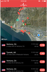 Earthquakes in Ventura